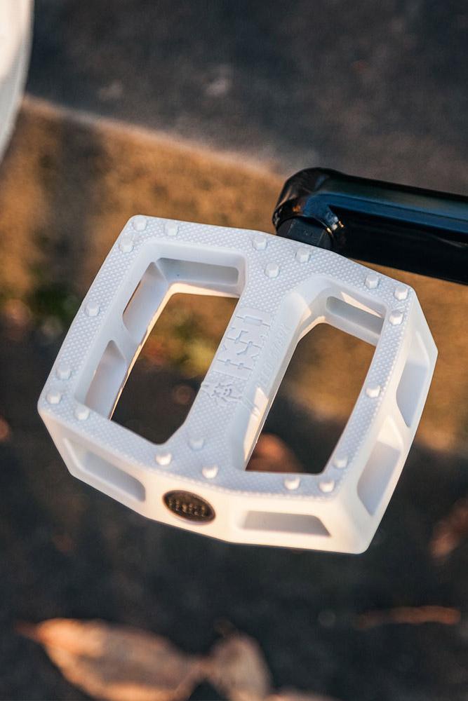 White Safari pedals