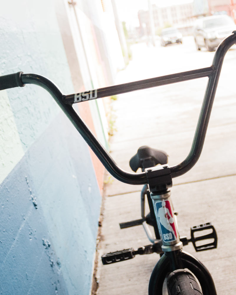 "David Grant's signature Raider 10"" rise bars"