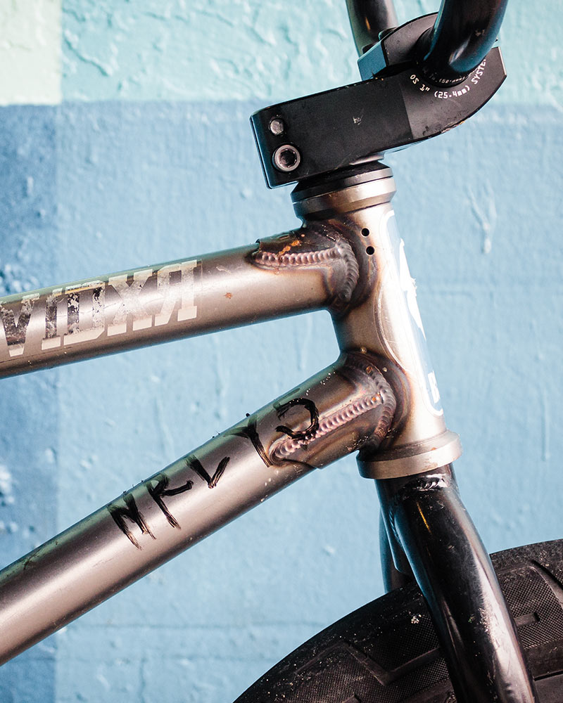 "DBG rides the Stacked stem for more height and in 1"" OS clamp size for better bar grip."