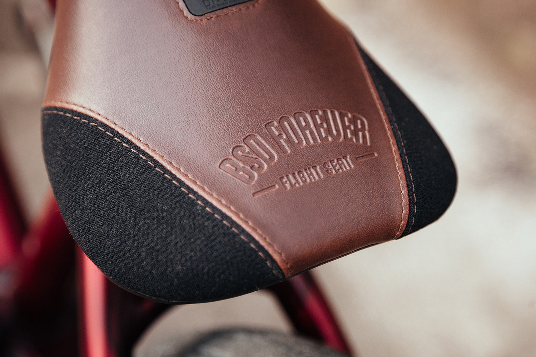 Kriss' signature seat in brown