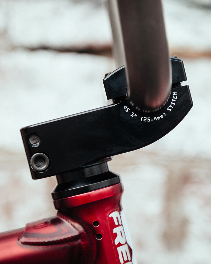 """Stacked stem in 1"""" OS clamp."""