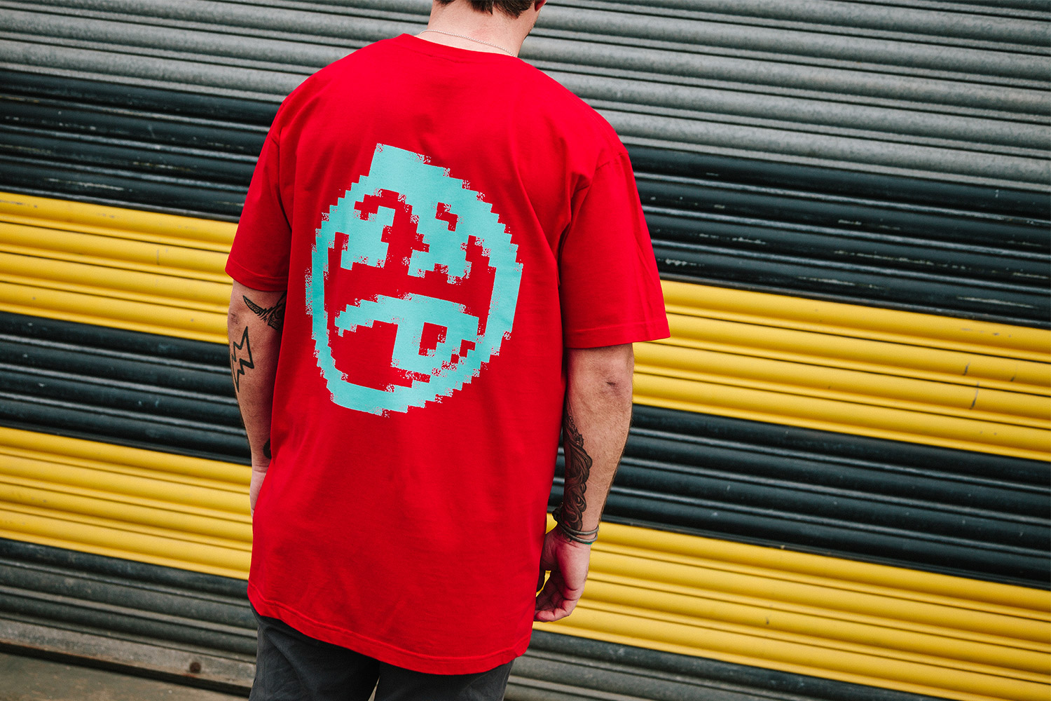 'Pixelate' Tee now in red