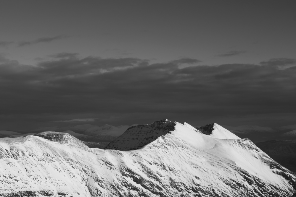 Scottish hills in winter