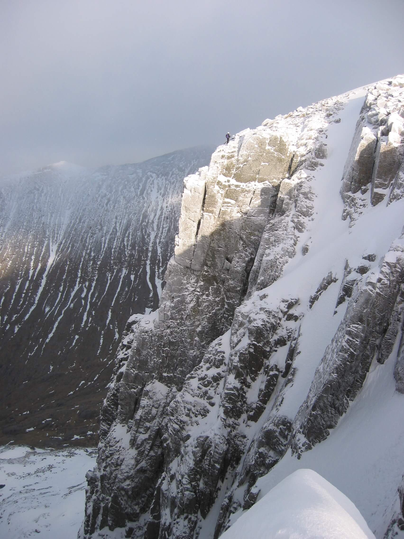 Looking across to Number Three Gully Buttress on Ben Nevis