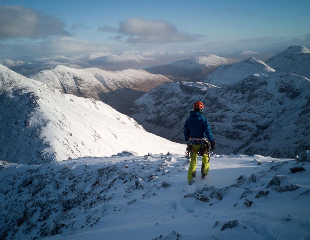 Church door buttress, winter in glencoe, scotland, climbing, ice, mountains, adventure, photography