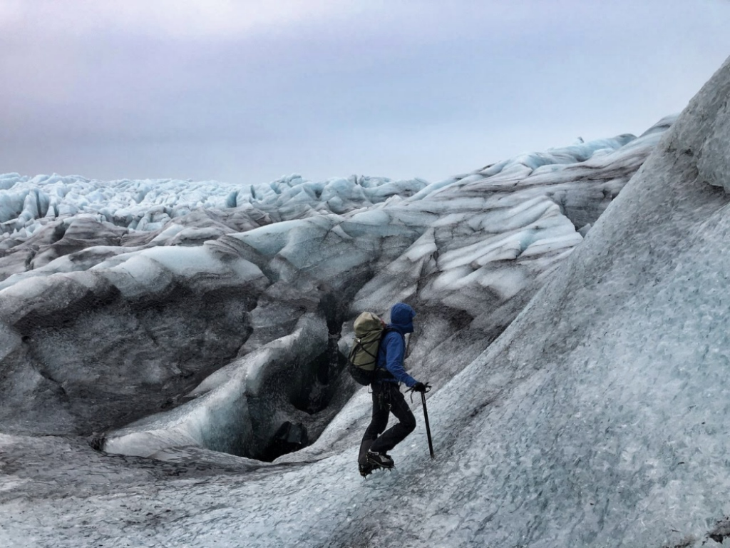 Megan Hine on an Iceland glacier