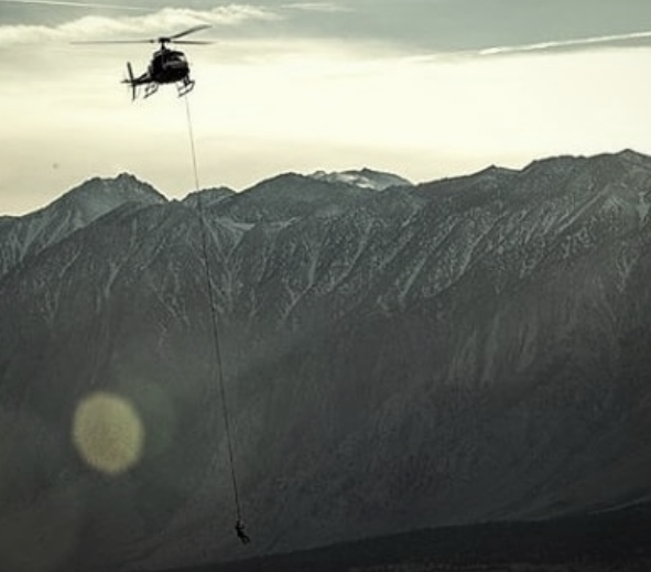 Megan Hine - helicopter filming