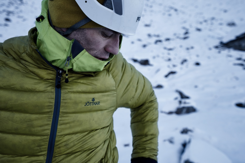 Fenrir jacket, Scottish winter climbing