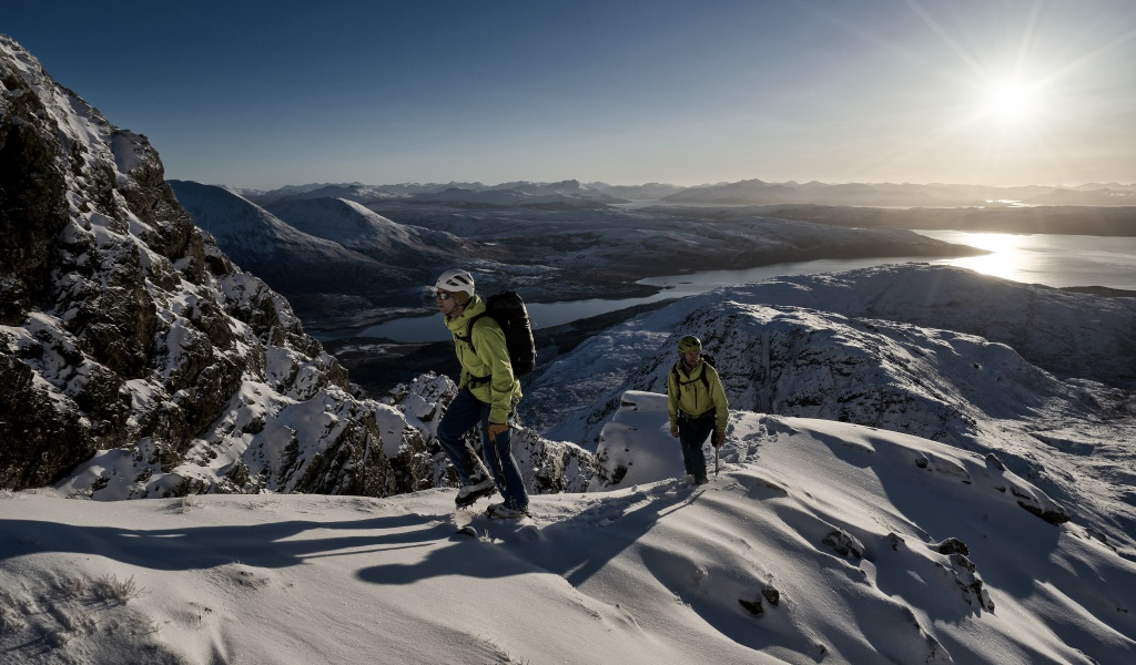 Winter mountaineering in Scotland Isle of Skye