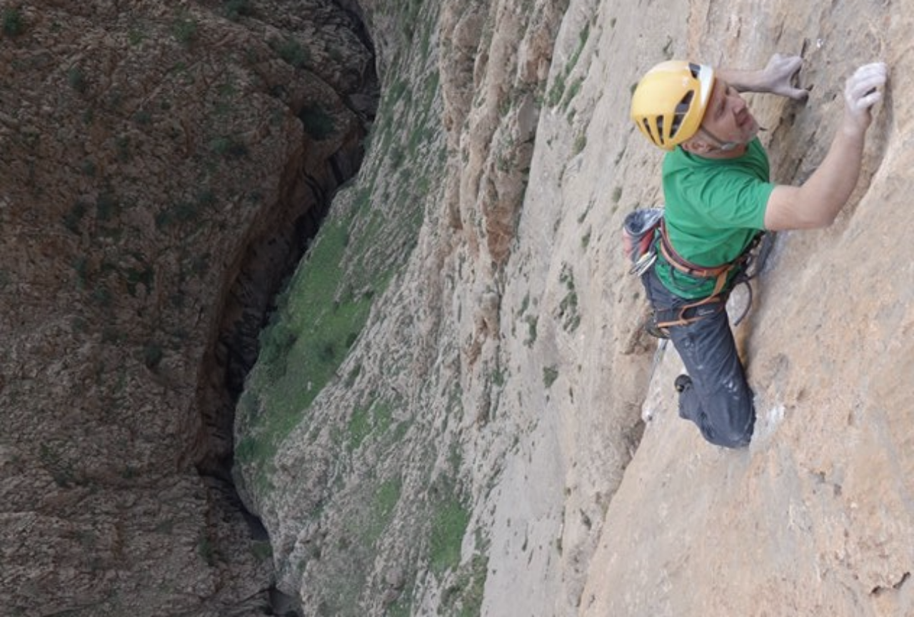 Rock climbing in Morocco