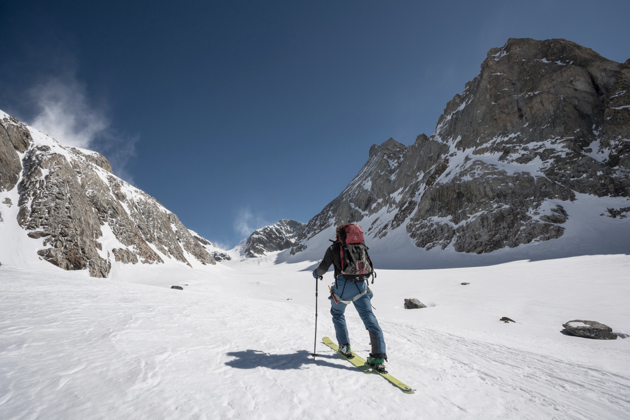 Ski touring through the Grünhornlücke in the Bernese Oberland