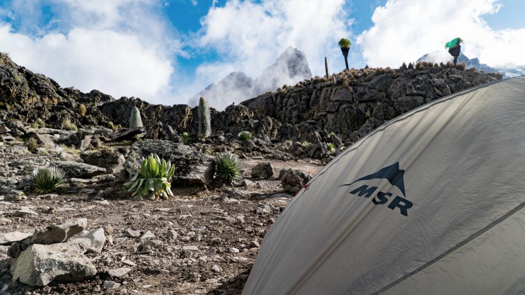 Campsite near Minto's Hut, Mount Kenya